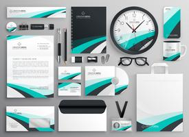 big set of business stationery items