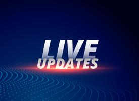 Fondo de noticias con actualizaciones en vivo de texto