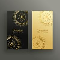 premium mandala style business card design