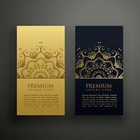 design de cartão de estilo de mandala de luxo