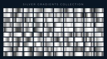 stor uppsättning silver eller platina gradienter