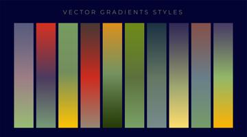 set of vintage gradients design
