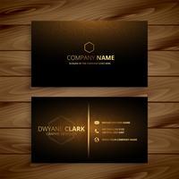 sjabloon voor luxe premium gouden visitekaartjes