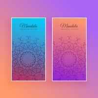 colorful mandala beautiful card design