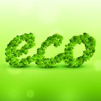 green eco background made with leaves