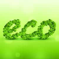 fundo verde eco feito com folhas