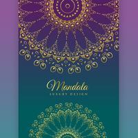 etnisk mandala dekoration bakgrundsdesign