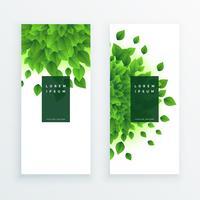 groene bladeren verticale banner achtergrond