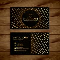 golden premium business card template