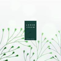 elegante fondo de vector de hojas verdes