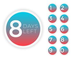 days left to go badge symbol