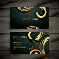 diseño de tarjeta de visita de oro de lujo premium