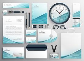 big set of professional brand identity business stationery items