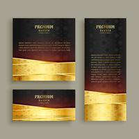 Premium Golden Banner Design Set