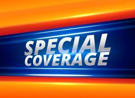 rapport de nouvelles couverture spéciale fond d'alerte
