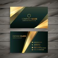elegant premium golden business card template