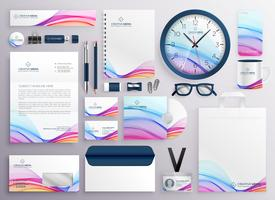 stylish big set of business stationery items