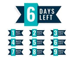 Antal dagar kvar märkesdesign