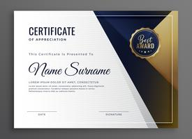 elegant diplom certifikat för prestationsmall design