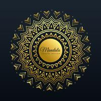beautiful golden mandala decoration background