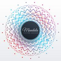 colorful mandala art decoration background