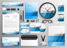 professional blue business stationery items set