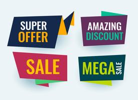 simple origami style sale banner