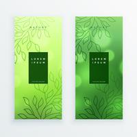 fantastiska gröna blad vertikala banderoller