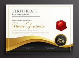 stilvolle Mehrzweck-Diplom-Zertifikat-Vorlage