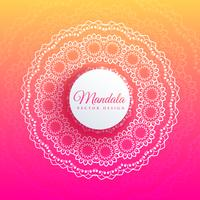 colorful mandala art elegant background