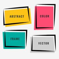 four abstract colorful frame set