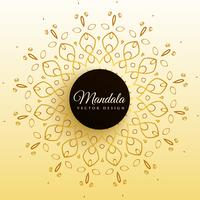 stylish mandala decoration vector background