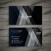 dark abstract creative business card