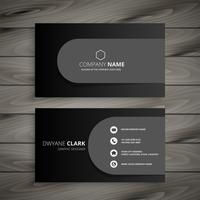 dark professional business card design