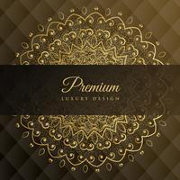 premium mandala gyllene bakgrundsdesign