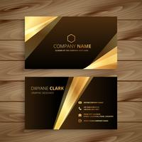 golden shiny business card design