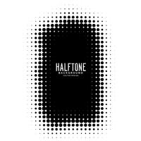 black halftone frame vector background