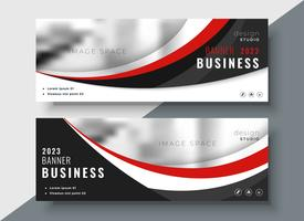 red and black business banners professional design