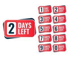 Antal dagar kvar klistermärke design