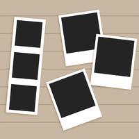 set of empty photo frames
