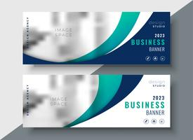 abstrakte wellig zwei Business-Web-Banner-Design