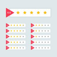 feedback or star rating minimal symbol design