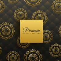 premium golden mandala seamless pattern