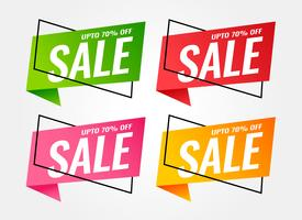 trendy sale banners in different colors