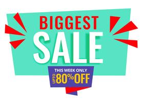 biggest sale promotional banner design