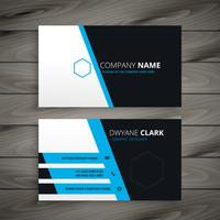 corporate blue business card design