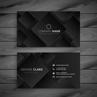 dark black business card design