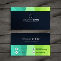 stylish dark business card design