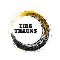 pista de neumático en estilo círculo