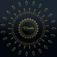stilvolles goldenes Mandala-dekoratives Design